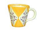 Cone mug purple flowers – orang