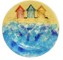 Dinner Plate – Beach Huts JPEG