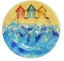 Dinner Plate – Beach Huts JPEG