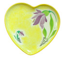 Heart Plate Purple flower on ye