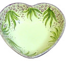Heart bowl green flowers