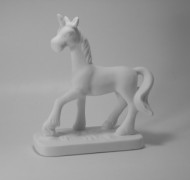Unicorn On Stand 18cm – In Studio Cost £15.75 to £18.90